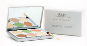 Foundation and concealers palette, 6 tones - STAGE LINE