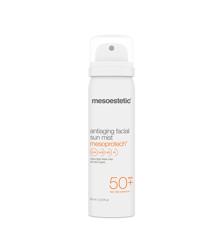 Home Performance Protección Solar. Mesoprotech Antiaging Facial Sun Mist - MESOESTETIC