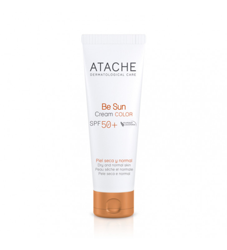 Be Sun. SPF50+ Crema protectora facial con color - ATACHE