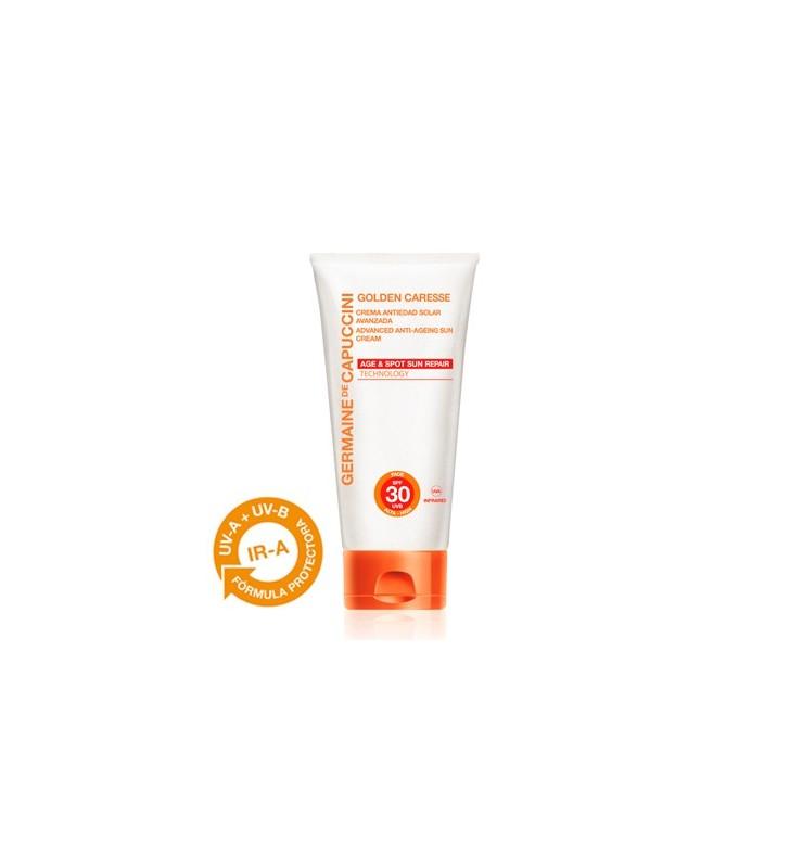 Golden Caresse. Crema Antiedad Avanzada SPF30 y SPF50+ - GERMAINE DE CAPUCCINI