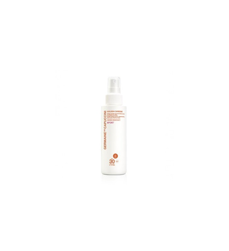 Golden Caresse. Spray Sport Protección Antiedad Global SPF30 - GERMAINE DE CAPUCCINI