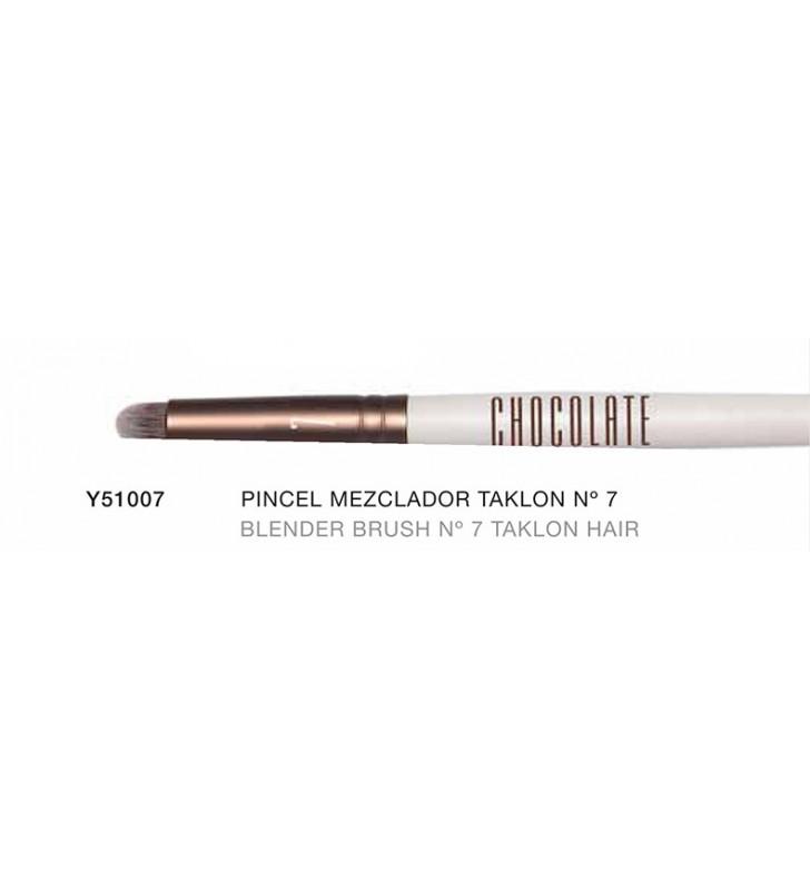 Chocolate. Pincel especial para mezclar efecto Blender con pelo de Taklon nº7 Y51007