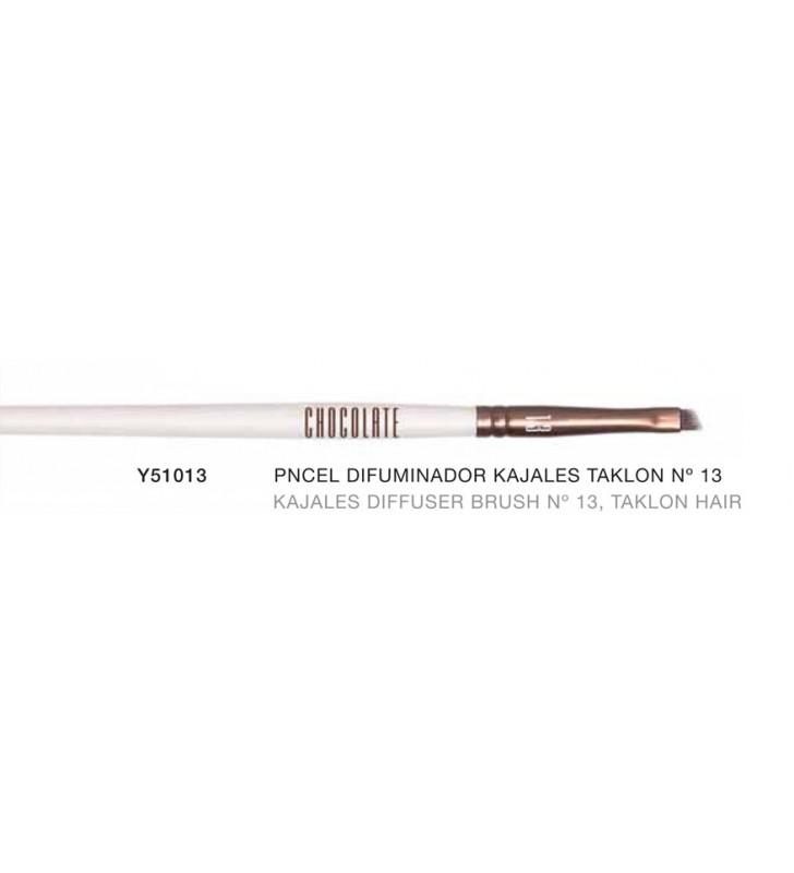 Chocolate. Pincel difuminador de Kajales con pelo de Taklon nº13 Y51013