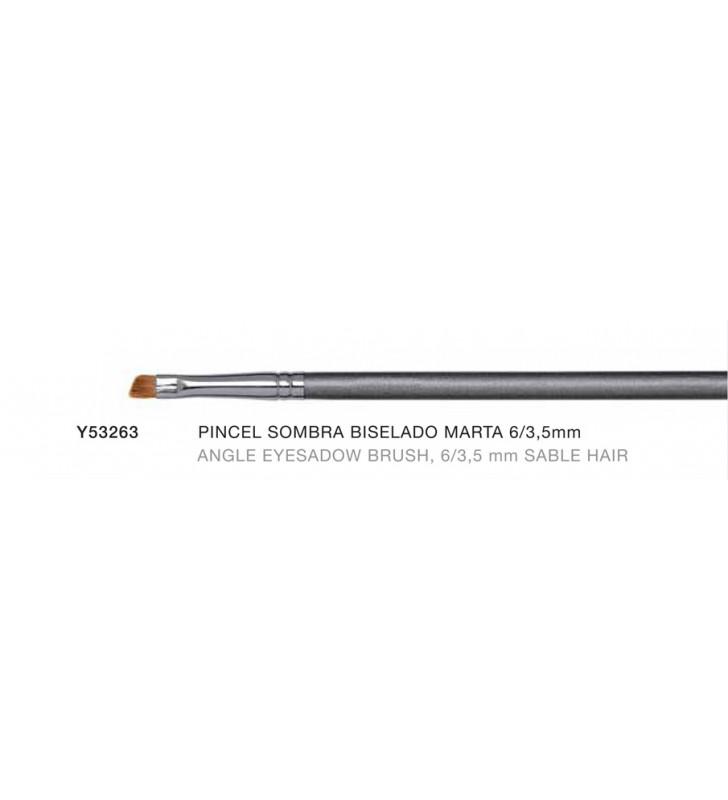 Firenze. Pincel para Sombras Biselado de 6 a 3.5 mm de Pelo de Marta - Novara