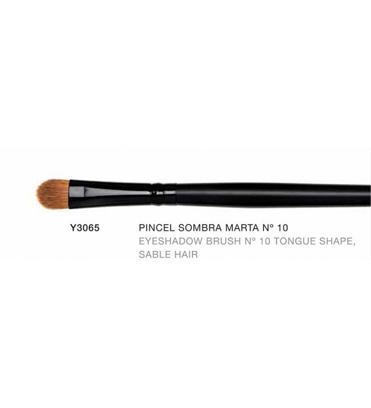Macao. Pincel para de sombras de ojos con forma de Lengua hecho con pelo de Marta nº10 Y3065 - Novara