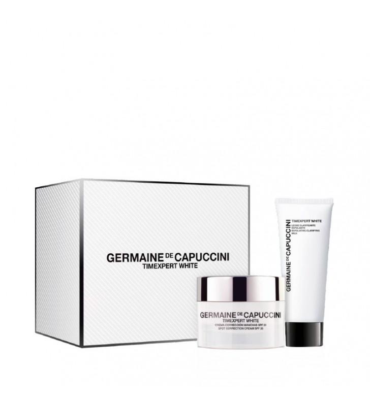Pack Timexpert White. Crema Corrección SPF20 + Leche Clarificante Exfoliante - GERMAINE DE CAPUCCINI
