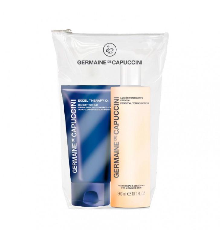Soft Skin Duo. 365 Soft Scrub + Loción Tonificante Esencial - GERMAINE DE CAPUCCINI