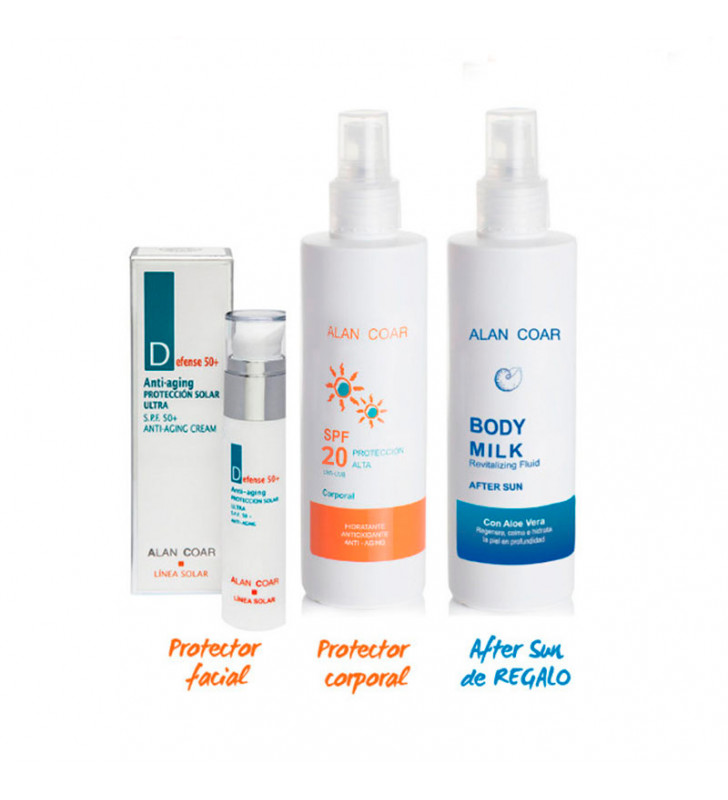 Pack Solar. Facial SPF50 + Corporal SPF20 + After Sun ¡De Regalo! - ALAN COAR
