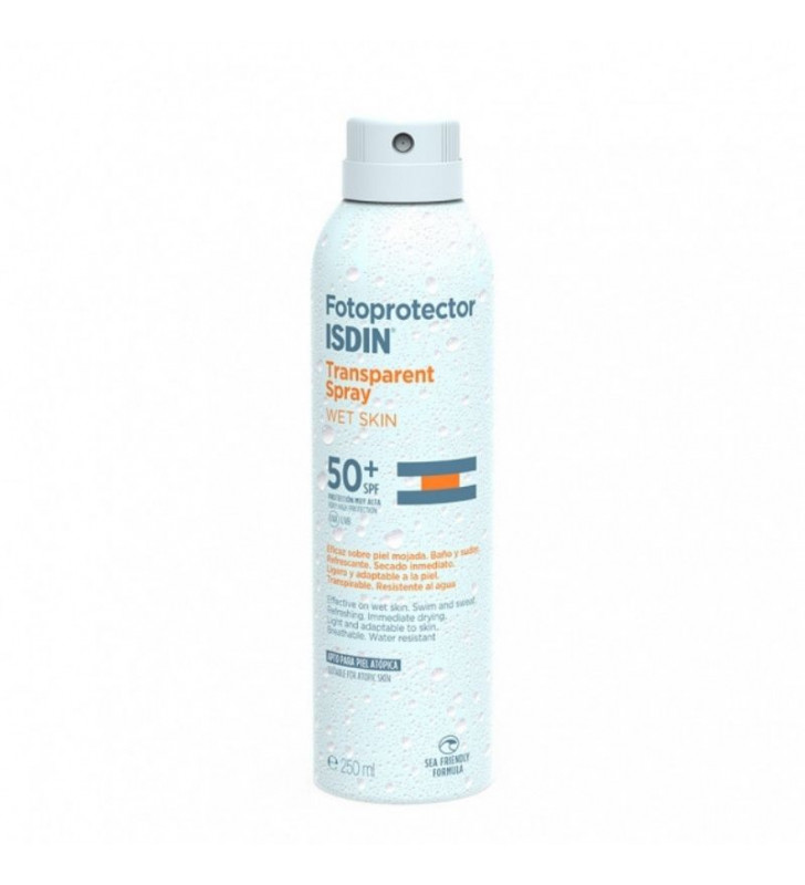 Fotoprotector. Transparent Spray Wet Skin SPF50+ - ISDIN