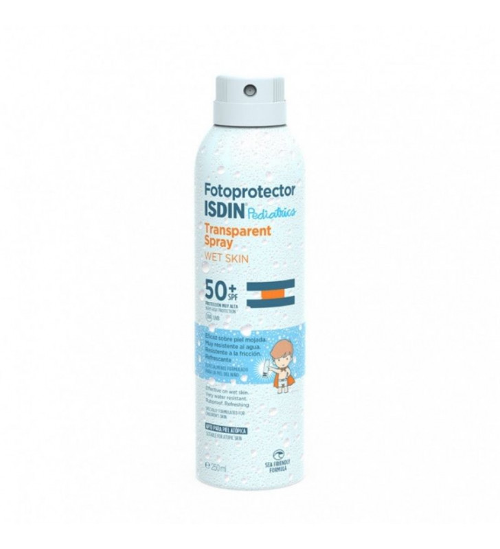 Fotoprotector. Transparent Spray Wet Skin Pedriatrics SPF50+ - ISDIN